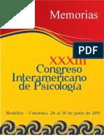Memorias XXX Congreso Interamericano de Psicología, Medellín 2011