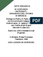 L'ARTE ORGANICA _1608_ Francesco Tebaldino