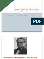 Viata Si Opera Lui Cezar Petrescu