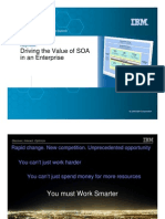(Soa Summit 1) Driving the Value of SOA in an Enterprise