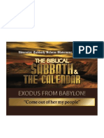 The Biblical Sabbath and the Calendar