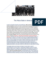 The Police State in America in 2011 plus Beyond