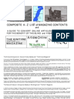 Kintyre Magazine - Kintyre Web and Kist Magazine - Composite Index