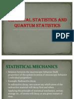 Classical Statistics and Quantum Statistics