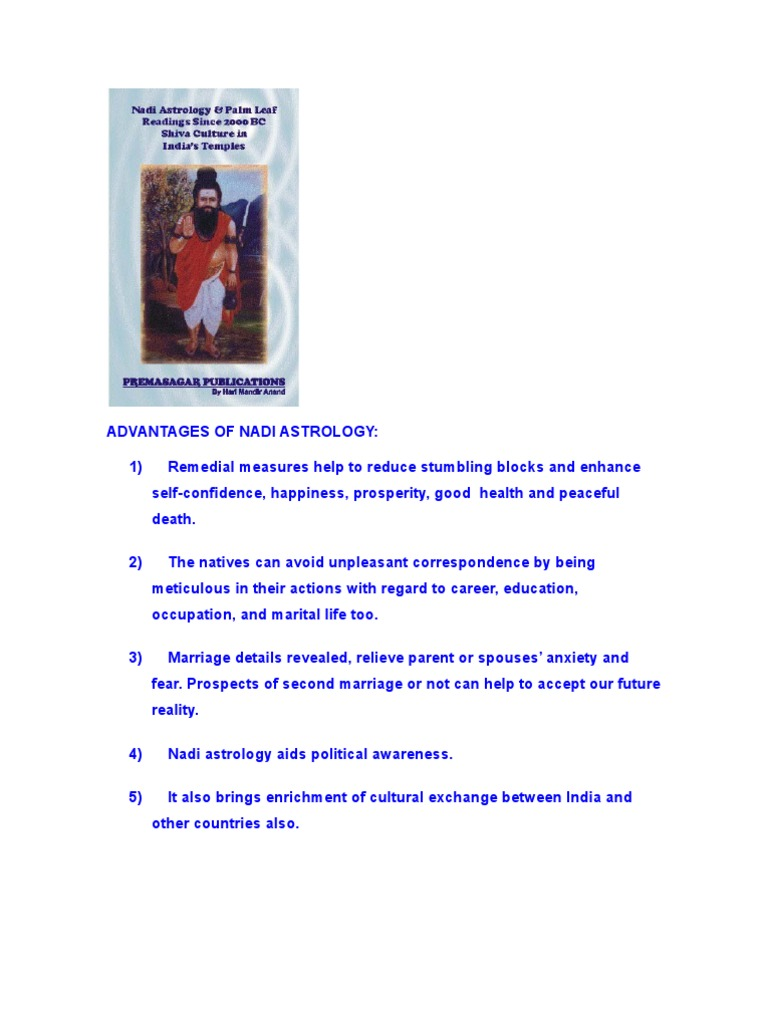 Advantages of Nadi Astrology | Astrology | Karma