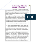 Astronomical Identity of Saptha Rishis's, Dhruva & Arundhathi