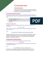 Quantum mechanics course Postulates