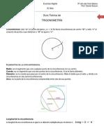 Guía Teórica de trigonometría