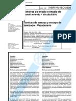 [NBR NM ISO-2395] - Peneiras de Ensaio e Ensaio de Peneiramento - Vocabulário