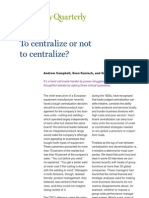 McKinsey-To Centralise or Not