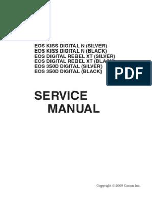 CANON EOS 350D Service and Parts Copy   Autofocus   Canon Eos