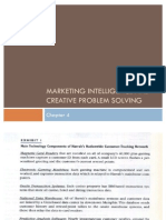 Strategic Marketing Management-Chapter 4-Marketing Intelligence and Creative Problem Solving