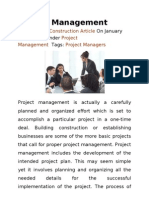 Glossary for Project Management