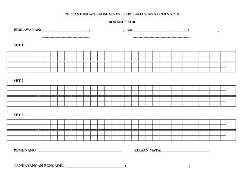ball badminton score sheet pdf