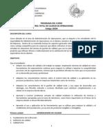 Programa Control Total de Calidad de Operaciones 2011