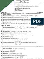 subiecte BAC matematica 2011