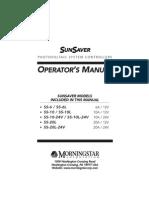 Sunsaver Manual
