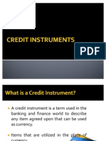 Credit Instruments Power Point