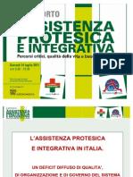 Angelo Tanese, Agenzia Valutazione Civica, I Rapporto su assistenza protesica e integrativa