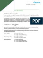 2.2e Coating Formulation Calculation