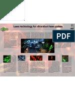 Laser technology for ultra-short laser pulses
