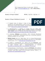 Dr M Kannan Publication Details