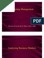 Analyzing Business Market