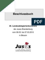 2010 LDK Beschlussbuch Jusos Brandenburg