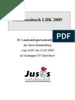 2009 LDK Beschlussbuch Jusos Brandenburg