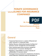 Corporate Governance Guidelines for Insurance Companies