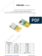 TRW-24G 2.4GHz RF Tranceiver Module Data Sheet E