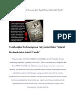 Membongkar Kebohongan Buku ''Sejarah Berdarah Sekte Salafi Wahabi''