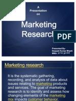 Deepak Kumar Bharti-Ppt on Marketing Research