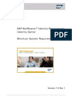 SAP NetWeaver Identitity Management Identity Center Minimum System Requirements