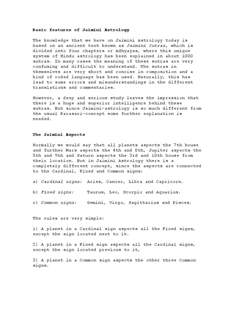 Jaimini Astrology, Jaimini system of Astrology, sage
