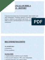 Kumar Mangalam Birla Committee - Report