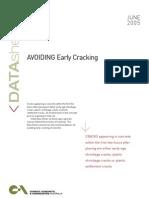 Avoiding Early Cracking