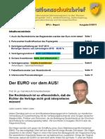 """Inflationsschutzbrief (Börsenbrief) Ausgabe 21/2011 """"Der EURO vor dem AUS"""" / Euro-Krise"""