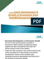 Economic Development & Growth