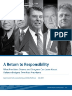 A Return to Responsibility