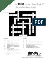 Crucigrama (Crossword)  Tapir  de Montaña