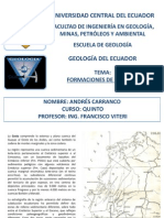 Formaciones de La Costa Ecuador