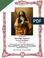 25 de julio. Santiago Apóstol, Patrono de España. Guía para la santa misa cantada