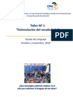 2010 Taller Vocabulario Cpal