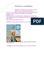 La Biología Moderna y sus distintas disciplinas