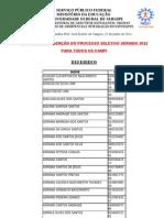 RESULTADO isenção UFS . 2011-2012