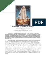 Who is Sri Sai Baba of Shirdi