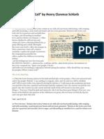 An Emergency Call - manuscript - 11/16/58