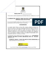 Resolucion de Apertura SPO-01-2011