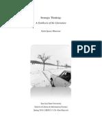 Bluestone Strategic Thinking Final Paper